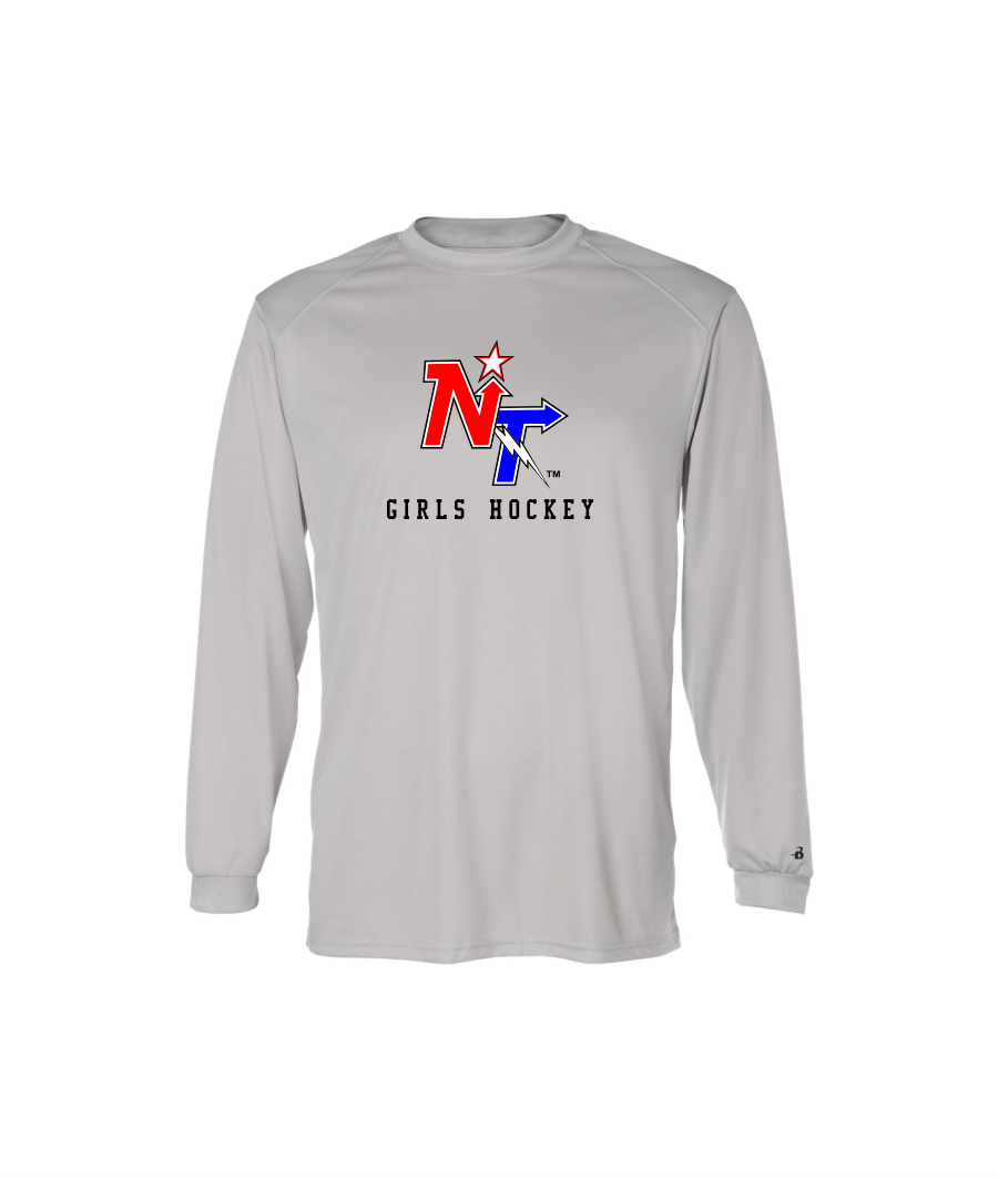 6905d720e North Tartan Girls Hockey Badger B-Core Long Sleeve T-Shirt